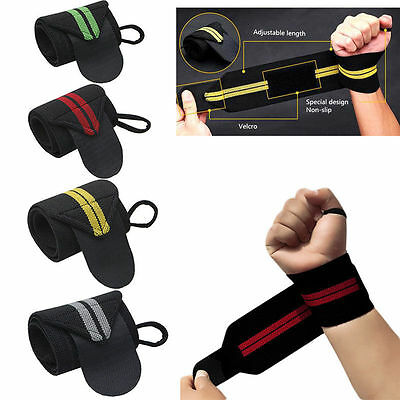 1Pcs Weight Lifting Wrist Wraps Bandage Hand Support Straps Sports Gym Training