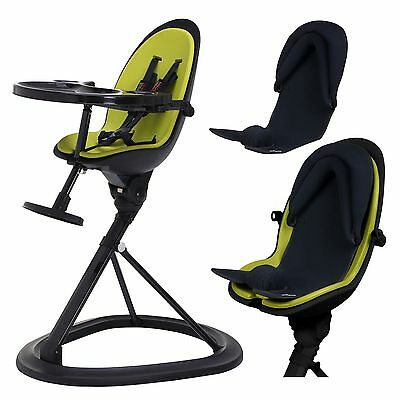 Ickle Bubba Orb+ Baby Highchair & Infant Inlay Feeding Chair in Green on Black