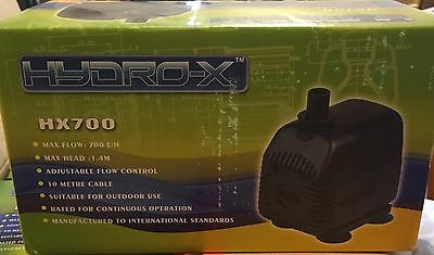 SUBMERSIBLE WATER PUMP HYDROPONICS FISHTANK POND 10 metre Cord ~HYDRO-X ~ HX700