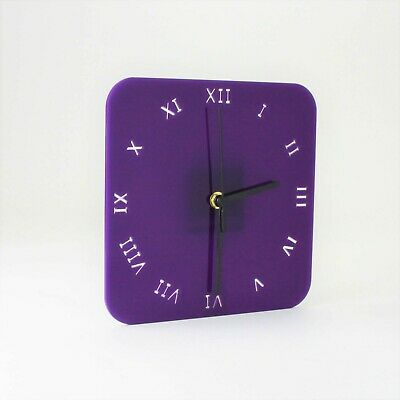 Small Square Wall Clock, Roman Numerals, Living Room, Dining, Kitchen, Office