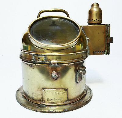 Antique ship helmsman's binnacle gimbal compass, British Admiralty Pattern 183