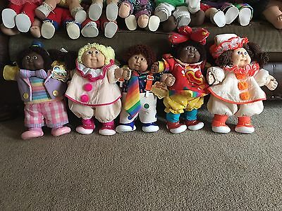 Lot Of 5 Cabbage Patch Clown Dolls