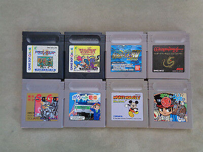 Nintendo Game Boy lot of 8 games (japanese version)