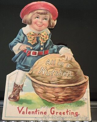 """Rare Vintage Buster Brown mechanical 9"""" Valentine All In A Nutshell from estate"""
