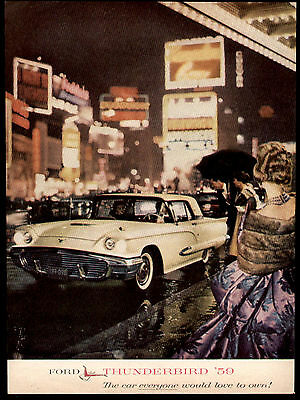 1959 The Car Everyone Wants Ford Thunderbird Ad