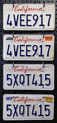 California License Plate - Pick Your Pair