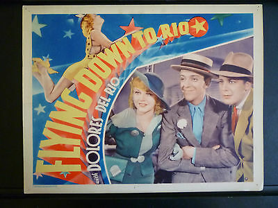 1933 Flying Down To Rio - Rare Exc Cond Vintage Lobby Card - Astaire + Rogers