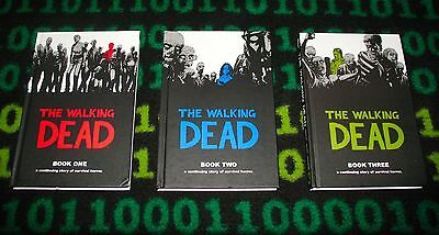 The Walking Dead: Book Collection (1, 2, 3) HC Graphic Novels!! Free Shipping!!!
