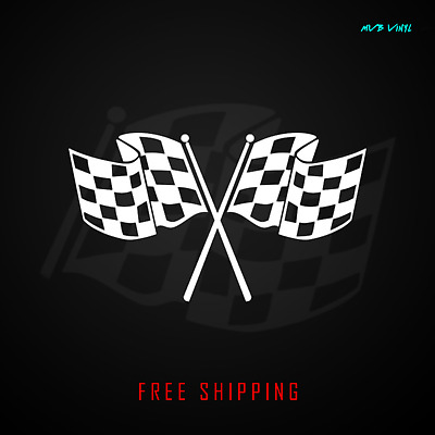Checkered Flag Vinyl Decal Sticker racing jdm car race racing finish line 381