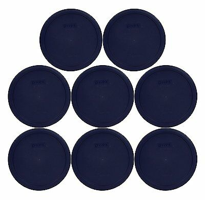 Pyrex 7402-PC Blue 6-7 Cup Round Plastic Storage Lid 8PK for Glass Bowl New