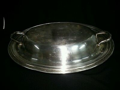 Concord Silverplate Oval Serving Dish With Lid