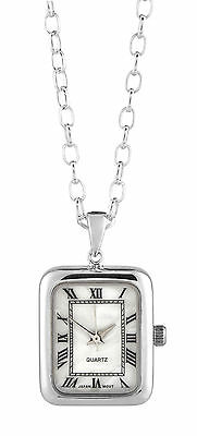 Special Offer - Woodford Art Deco 925 Sterling Silver Pendant Watch Quartz 1249