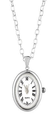 Special Offer - Woodford Art Deco 925 Sterling Silver Pendant Watch Quartz 1251