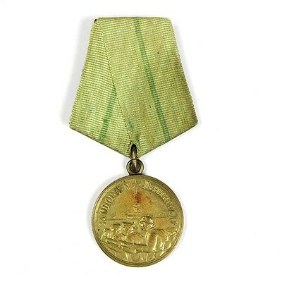 Original Wwii Russian Campaign Medal - For The Defence Of Leningrad 1942