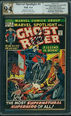 Marvel Spotlight #5 PGX 9.4 1972 Stan Lee Signature! 1st Ghost Rider Like CGC cm
