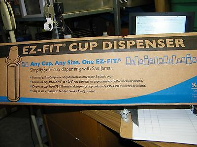 San Jamar C2410C EZ-FIT Cup Dispenser Fits 8oz to 46oz Cup (5Z)