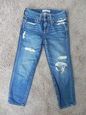 Boys Abercrombie & Fitch Destroyed Jeans Size 8 Slim