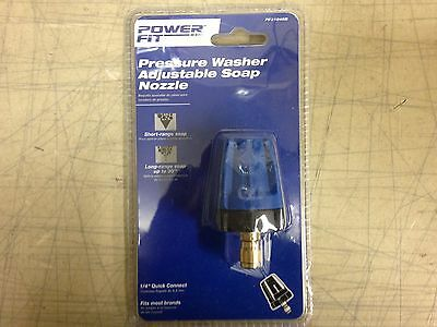 """PowerFit QC Pressure Washer Adjustable Soap Nozzle, PF31048B, 1/4"""" Quick Connect"""