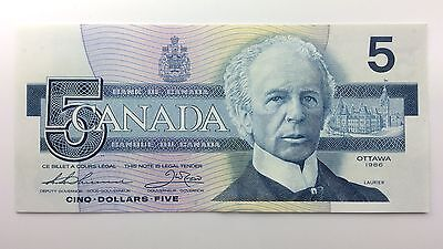 1986 Canada Five 5 Dollars FPN Series New Bill Note Uncirculated Banknote A983