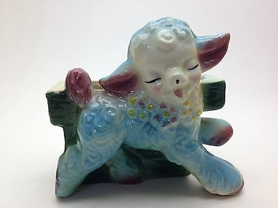 Vintage Happy Lamb Colorful Planter