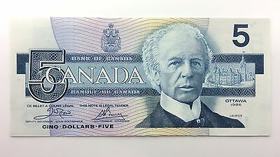 1986 Canada Five 5 Dollars EOU Series New Bill Note Uncirculated Banknote A984