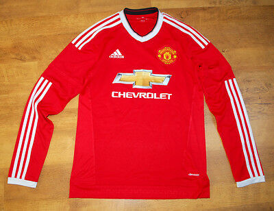 adidas Manchester United 2015/2016 long-sleeved home shirt (Size S)