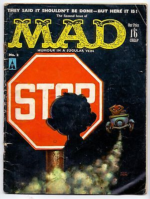 MAD #2   NO DATE  VG-/VG+  2nd UK PRINTED