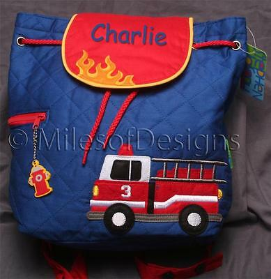 Toddler Backpack Personalized Stephen Joseph Fire Truck Custom Name