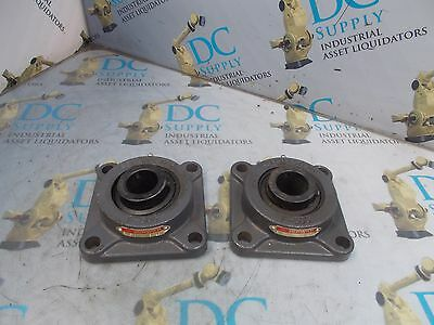 "Sealmaster Msf-19 F-506 1 3/16"" 4 Bolt Flange Bearing Lot Of 2 New"