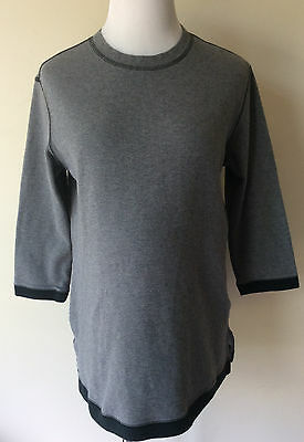 Women's Size Small S Motherhood Gray & Black Cotton/Spandex Maternity Top