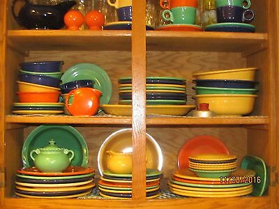"Vistosa Taylor Smith & Taylor Vintage Six Fruit Dessert Bowls 6"" Fiesta Colors"