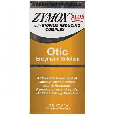 Zymox Plus Otic Advanced Formula Enzymatic Solution For Dogs & Cats 1.25oz USA
