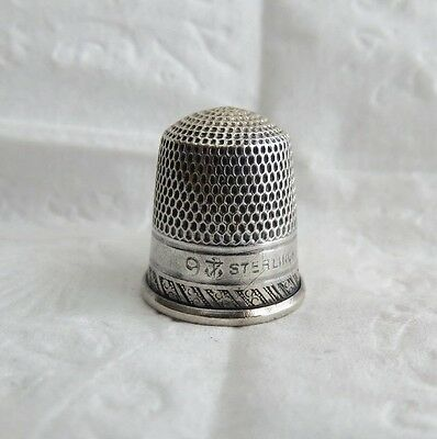 Antique Stern Bros. Sterling Silver Thimble Size 9