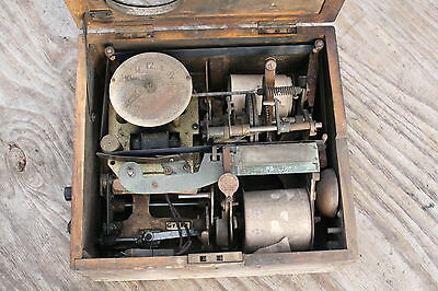Antique National Time Recorder Clocking In Box