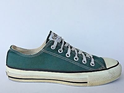 Vintage CONVERSE All Star Low Top Green Sneakers Made in USA SIZE 8