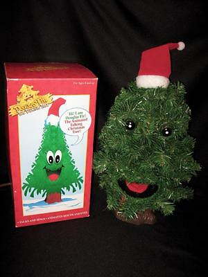 DOUGLAS FIR THE TALKING TREE By Gemmy 1996 Motion Activated Sings Lights & Moves