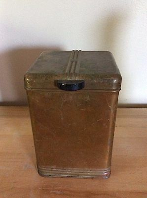 Vintage 1930s Kreamer   Tin Tea/Coffee Canister - Rare  Copper Plated