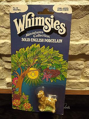 Vintage Wade Whimsie full boxed Blister England No.18 Spaniel