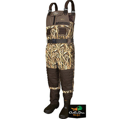 Drake Waterfowl Mst Breathable Chest Waders Insulated Sg Blades Camo Size 12