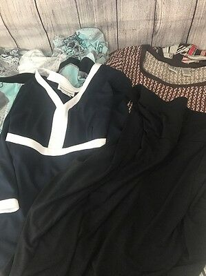 Lot of 4 MATERNITY Dress Skirt Shirts Pregnancy Clothes Size Large