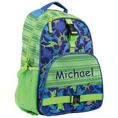 Personalized Stephen Joseph All Over Print Backpack Shark Custom Name