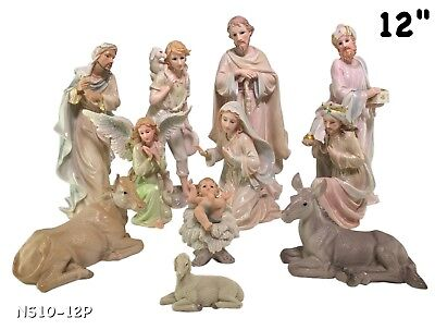 Nacimiento/nativity Set 12 Inches 11 Piece Set Ns10-12P Brand New