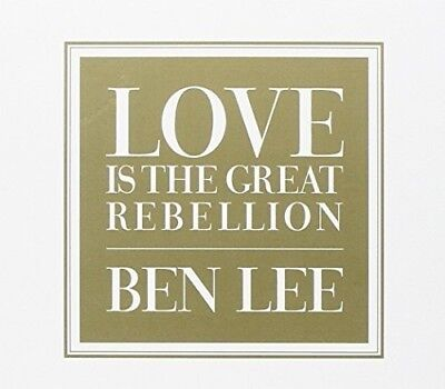 Ben Lee - Love Is the Great Rebellion [New CD] Australia - Import