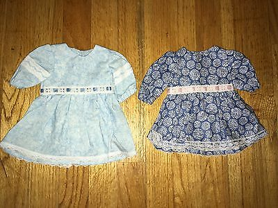"CABBAGE PATCH KIDS CPK - VTG HOMEMADE ~ Lot #3 of 2 DRESSES for 16"" DOLLS ~ NEW"