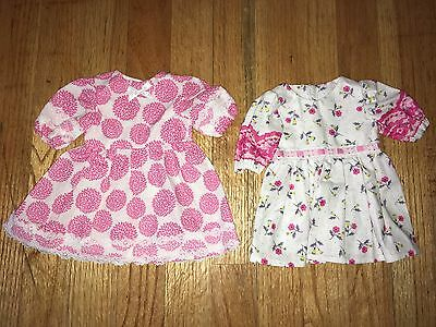 "CABBAGE PATCH KIDS CPK - VTG HOMEMADE ~ Lot #4 of 2 DRESSES for 16"" DOLLS ~ NEW"