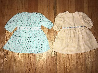 "CABBAGE PATCH KIDS CPK - VTG HOMEMADE ~ Lot #5 of 2 DRESSES for 16"" DOLLS ~ NEW"