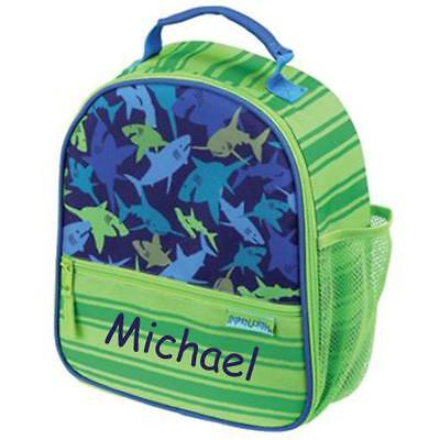 Personalized Stephen Joseph All Over Print Lunchbox Shark Custom Name