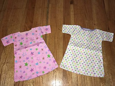 "CABBAGE PATCH KIDS CPK - VTG - 2 Pc LOT #1 - FLANNEL NIGHTGOWN PJs for 16"" DOLL"