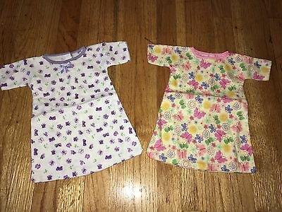"CABBAGE PATCH KIDS CPK - VTG - 2 Pc LOT #2 - FLANNEL NIGHTGOWN PJs for 16"" DOLL"