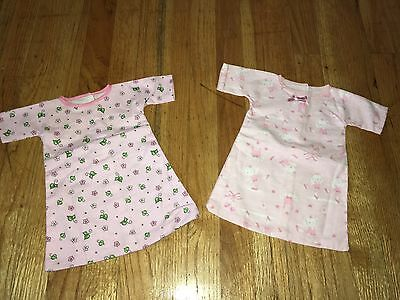 "CABBAGE PATCH KIDS CPK - VTG - 2 Pc LOT #3 - FLANNEL NIGHTGOWN PJs for 16"" DOLL"